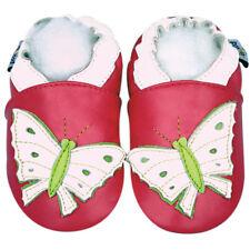 Freeship Littleoneshoes SoftSole Leather Baby Infant ButterflyFuchsia Shoe 6-12M