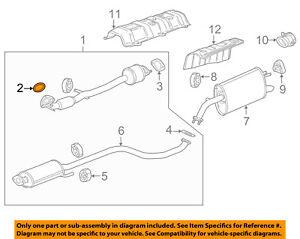 Chevrolet GM OEM 13-15 Spark 1.2L-L4 Exhaust-Muffler & Pipe Seal 96337657