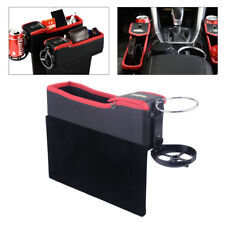 PU Black & Red Car Back Seat Catcher Gap Coin Storage Organizer Collector Holder