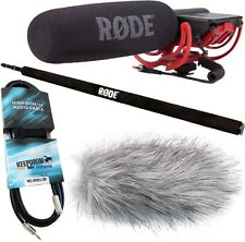 Rode VideoMic Rycote + Micro Boom Pole + TAMBURI ANTIVENTO WSWH + MINI JACK 3m