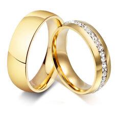 2 Verlobungsringe Partnerringe Trauringe Freundschaftsringe Zirkonia Edelstahl