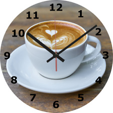 wall clock love coffee kitchen home decor food and drink cup mug cafe diy 383