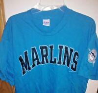 Vintage 90's Florida Marlins Baseball MLB T-Shirt Size L Miami