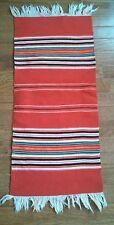 SOUTHWEST MEXICAN Woven Tapestry Rug Runner Fringe Serape Boho Hippy Scarf Wrap