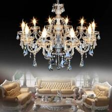 Samger 10 Arms Cognac Chandelier K9 Crystal Glass Ceiling Light E12 Pendant Lamp