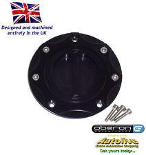 Oberon Honda CBR1100XX Super Blackbird Fuel/Gas Cap Kit #FUE-0402-BLACK-BLACK