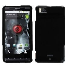 Glossy Black Hard Case Snap on Cover Motorola Droid X
