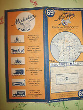 carte michelin 69 bourges macon 1944