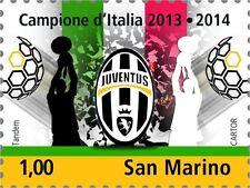 Francobollo JUVE JUVENTUS Campione D'Italia 2013/2014 Scudetto San Marino 2014