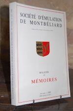 BULLETIN ET MEMOIRES 2000 SOCIETE D'EMULATION DE MONTBELIARD