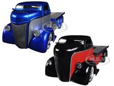 1947 FORD COE BLUE & RED 2 TRUCKS SET 1/24 DIECAST MODEL CARS BY JADA 96959SET
