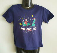 BNWT Little Boys Sz 2 Best And Less Blue Christmas Cute Cotton Print Tee Top
