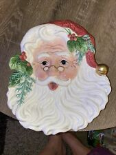 Vintage Fritz & Floyd Classic Old Fashioned Chirstmas Santa Canape / Wall Plate