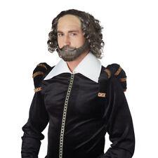 Mens William Shakespeare Costume Wig