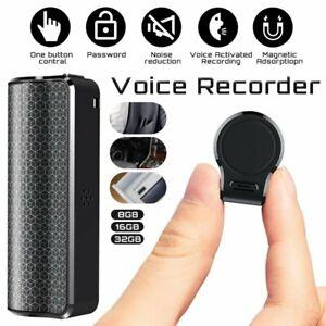 Mini Spy Audio Recorder Voice Listening Device 1000Hours 8/16/32GB Bug Recording