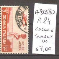 FRANCOBOLLI COLONIE SOMALIA USATI N. A24 (A80580)