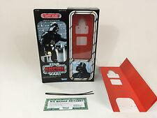 """Custom Vintage Star Wars Empire strikes back 12"""" Dark Vador Box + inserts"""