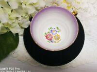 Vintage Fine Bone China H. M. Sutherland  English  BLACK/Purple bone china