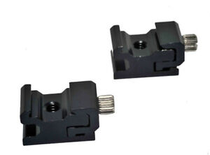 2 X Einstellbar Speedlite Kalt Schuhe 1/4 Schraube Zu Flash Hot Adapterring