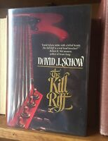 Signed The Kill Riff 1st Edition Schow David Hardcover THRILLER Outer Limits