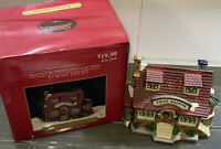 Santa's Workbench Coll. Towne Series SMOKE SHOP Porcelain Brick House 479-2545
