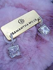 Samantha Wills Bridal Earrings Summer Afterglow Petite Drop Squares NWT $131