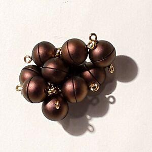 Magnetverschluss 10 Stück Chrom rot gold 10 mm rund Sonderposten