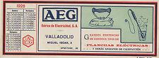 Papel secante de AEG Ibérica de Electricidad, S.A. Valadolid, Miguel Iscar, 3.