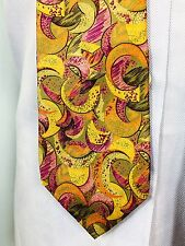 Pierre Balmain Paris Men's Futurism Movement Necktie Tie Silk Masterpiece Italy