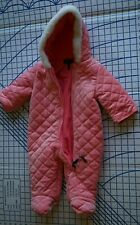 US Polo Assn.  infant girl 6 - 9 mo. one piece snowsuit bunting pink peach coral