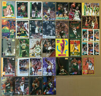 Gary Payton LOT of 39 Rookie RC inserts base NM+ cards 1990-1998 HOF Sonics gold