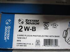 Notifier System Sensor 2 W-B Smoke Detector Lot of 4