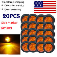 "20X Amber Mini 12V 3/4"" Round Marker Light Clearance Eagle eye lights truck tail"