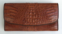 BROWN REAL GENUINE CROCODILE alligator SKIN LEATHER LONG CLUTCH WALLET NEW PURSE