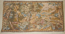 French Antique Beautiful Greeny,Trees,Birds,Jungle Scene Tapestry 100X50cm (A70)