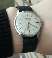 ANCHER de luxe  Watch Swiss made mechanic 1960s Vintage stainless steel !!!