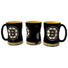 Boston Bruins Coffee Mug Relief Sculpted Team Color Logo 14 oz NHL Black