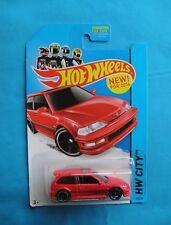 2014   HOT WHEELS   1990 HONDA CIVIC EF Red Rare New Model