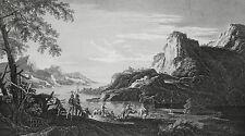 Eau Forte XIXème - Halte - Salvator Rosa - J.B Wicar - Dequevauviller