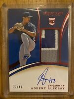 Adbert Alzolay 2020 Panini Immaculate Rookie Patch Auto RPA /49 Chicago Cubs