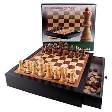 Mueble lacado negro ajedrez y damas