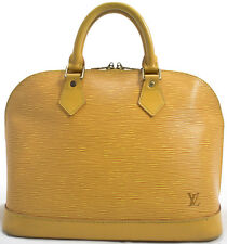 Louis Vuitton Sac EPI ALMA Tasche Bag Zeitlos Model Rare Timeless GELB YELLOW