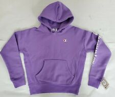 Champion Youth Small Lavender Purple Lavish Reverse Weave Hoodie Arm Logo RARE
