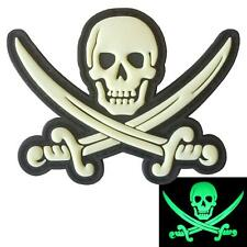Calico Jack skull pirate PVC rubber morale tactical Jolly touch fastener patch