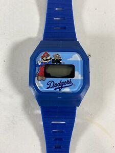 Rare Nintendo Mario LA Dodgers Wrist Watch Midco 80's DIC