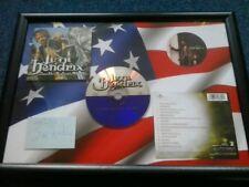 JIMI HENDRIX SOUTH SATURN DELTA  Framed CD& USA Flag& Photo& Facsimile Autograph