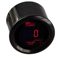 "2"" 52mm Car Red LED Light Digital Water Temp Celsius Gauge Meter Black Cover"