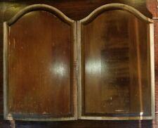 Vintage Art Deco Cabinet or Door Panel Domed Mahogany Insert (2)