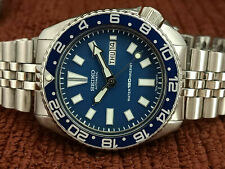 VINTAGE SEIKO DIVER 6309-7290 BLUE FACE MODDED AUTOMATIC MEN WATCH 785015