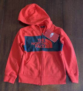 The North Face LogoWear Full Zip Hoodie Boys Fiery Red Size XXS-5